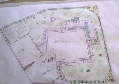Planung der Gartenneuanlage durch den Fachbetrieb Gartenreich Patrick Schwab in Landau/Isar