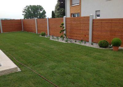 Fertige Gartengestaltung durch den Fachbetrieb Gartenreich Patrick Schwab in Landau/Isar aus einem anderen Blickwinkel