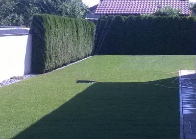 Wunderschöner Rasen verlegt durch den Fachbetrieb Gartenreich Patrick Schwab in Landau/Isar