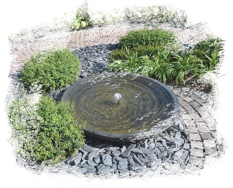 Der Fachbetrieb Gartenreich Patrick Schwab in Landau/Isar bietet professionellen Aufbau von Quellsteinen an